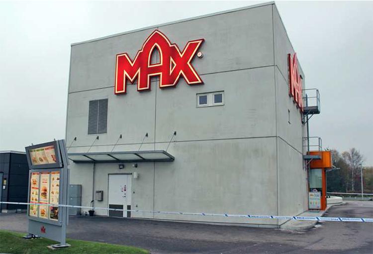 Max hamburgerrestaurang i Falkenberg.