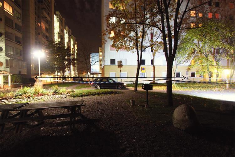37-åringen blev ihjälskjuten på Terapivägen i Flemingsberg.