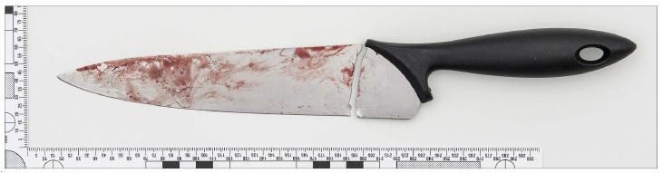 Ett av de vapen som 40-åringen använde sig av. © Polisen